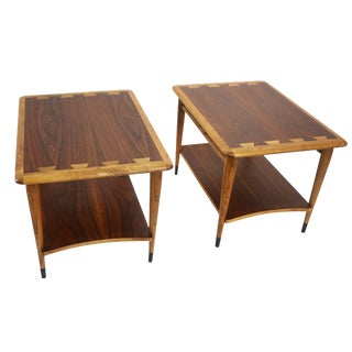 Lane Mid-Century Two Tier End Tables- A Pair