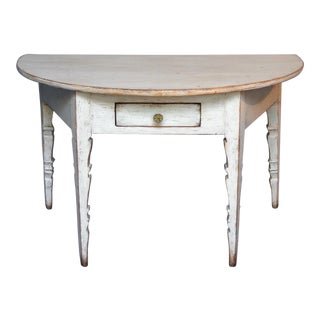 Demi-lune Console with Single Drawer (#01-06)