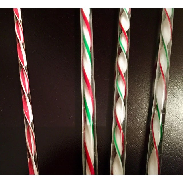Festive Holiday Peppermint Swizzle Sticks - Set of 4 - Image 3 of 4