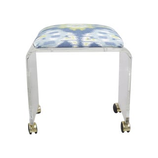 Lucite Waterfall Bench