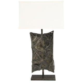 MASSIVE BRUTALIST TABLE LAMP BY MARCELLO FANTONI
