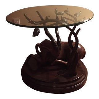 Thomasville Mahogany Antelope Table