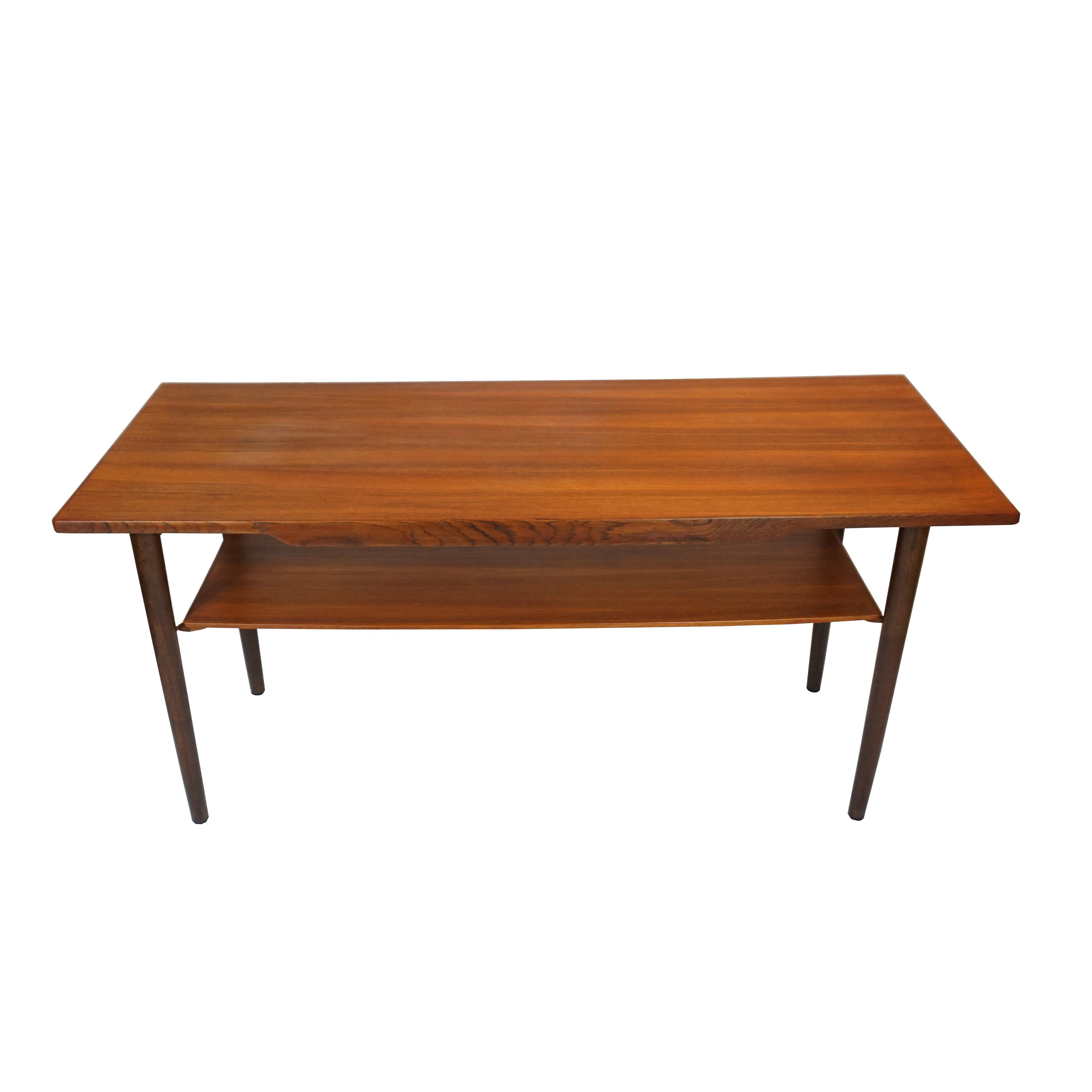 Nice Danish Teak Coffee Table With Lower Shelf   Image 5 Of 7