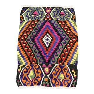 Turkish Anatolian Antalya Hand Knotted Wool Kilim Rug- 2'6'' x 3'6''