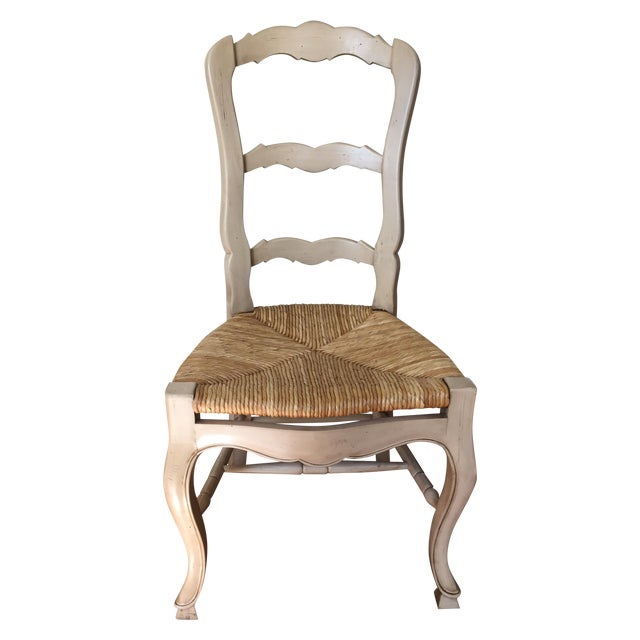 cream colored ladder back dining chairs set of 4 chairish