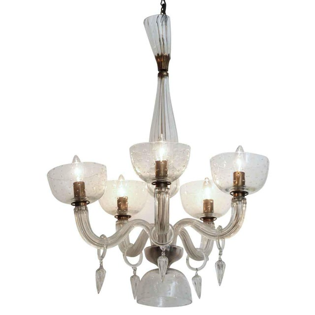Segusa Mid-Century Modern Blown Glass Chandelier - Image 10 of 10
