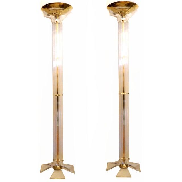 Italian Floor Lamps - A Pair - Image 6 of 9