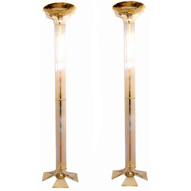 Image of Italian Floor Lamps - A Pair