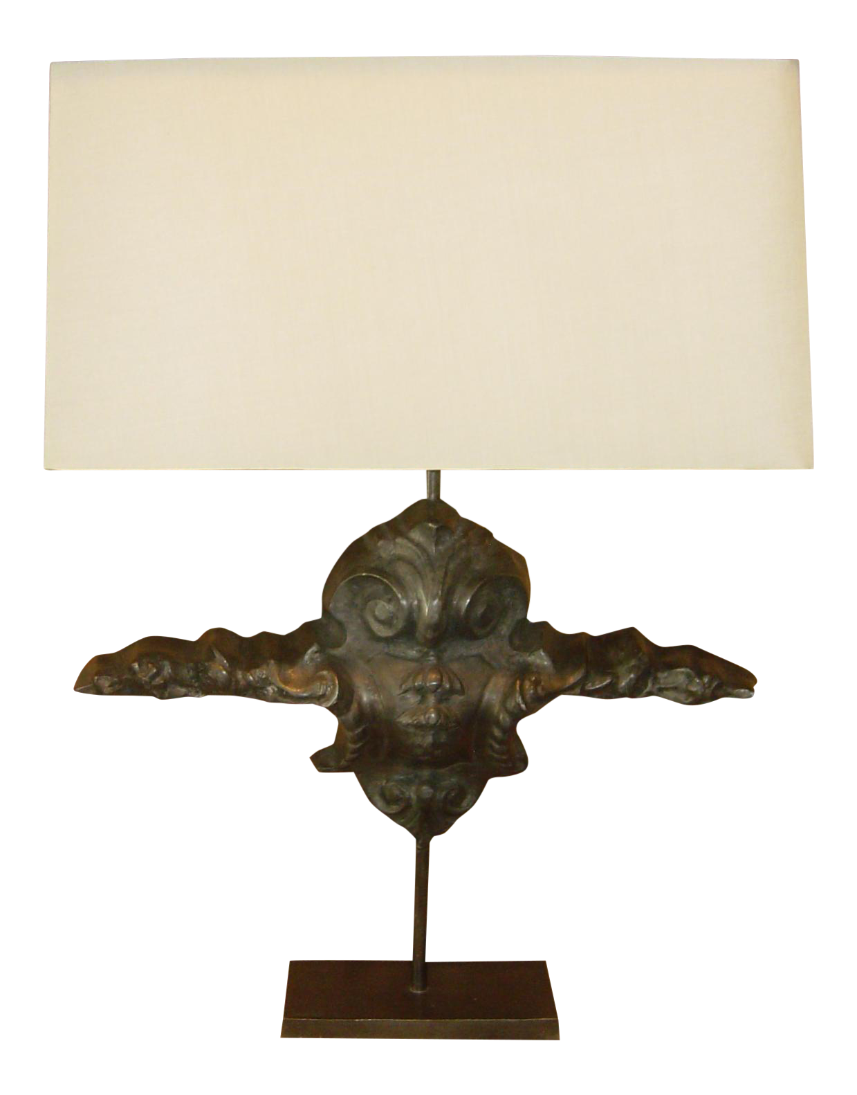 Pair Of Pewter Table Lamps   Image 1 Of 4