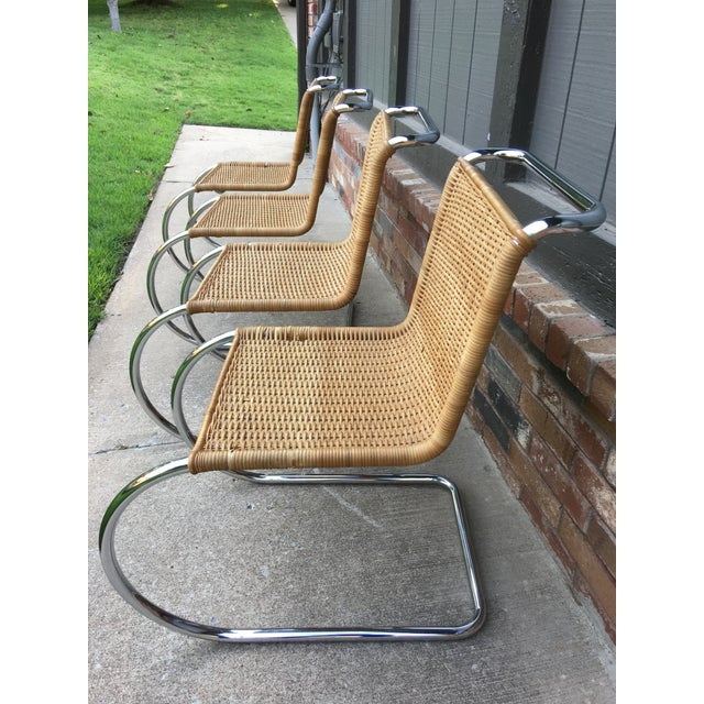 Mies Van Der Rohe M10 Dining Chairs - Set of 4 - Image 4 of 11