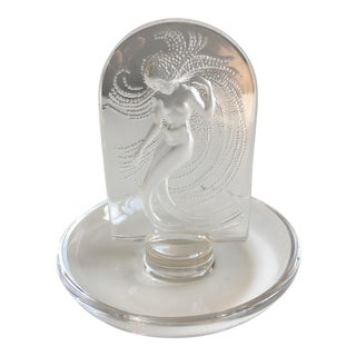 Lalique Naiades Frosted Crystal Ring Dish