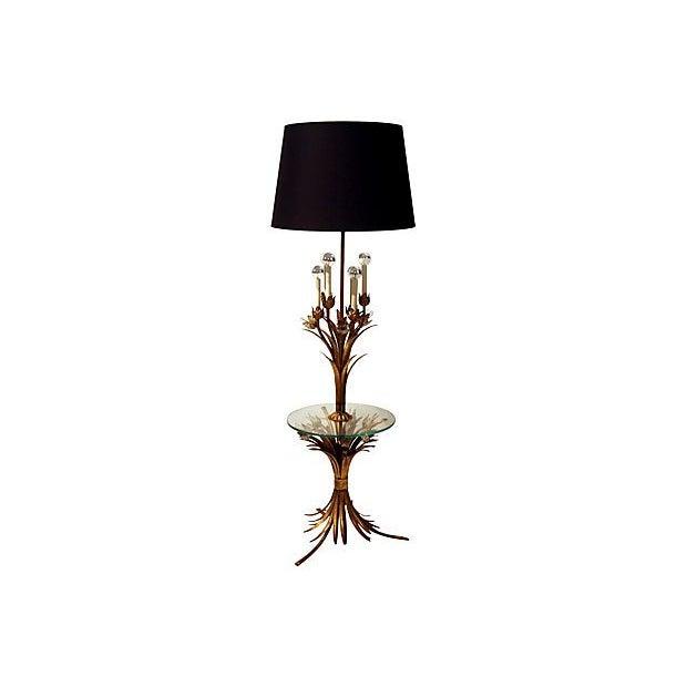 Sheaf of Wheat Gilt Floor Lamp - Image 2 of 6