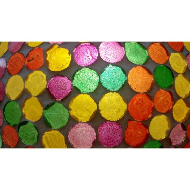 Multicolored Mosaic Globe Lantern - Image 3 of 3