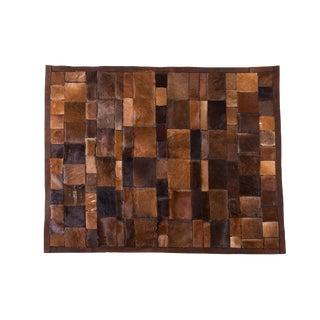 "Handmade Cowhide Patchwork Area Rug - 5' x 4'2"""