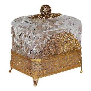 Hollywood Regency Glass Vanity Box