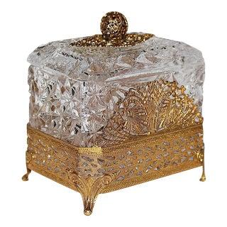 Hollywood Regency Glass Vanity Box