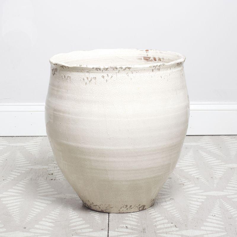 image of large white ceramic pot or planter