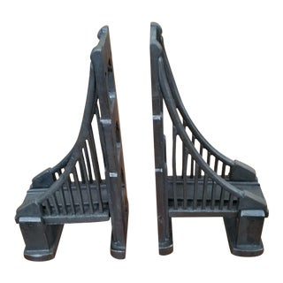 Restoration Hardware Bronze Bridge Bookends - A Pair