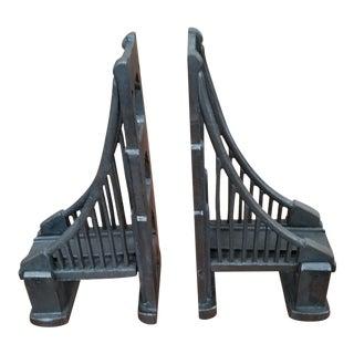 Restoration Hardware Bronze Bridge Bookends - A Pair