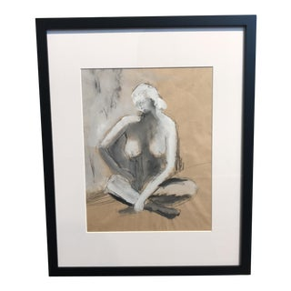 Charcoal & Gouache Figurative Drawing