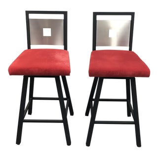 Contemporary Swivel Counter Stools- A Pair