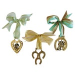 Image of English Brass Horse Ornaments- Set of 3