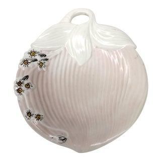 Mid-Century Pink & White Trinket Dish