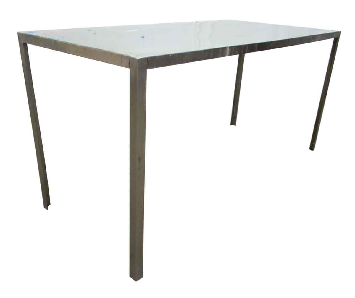 Long Narrow Aluminum Table   Image 3 Of 7