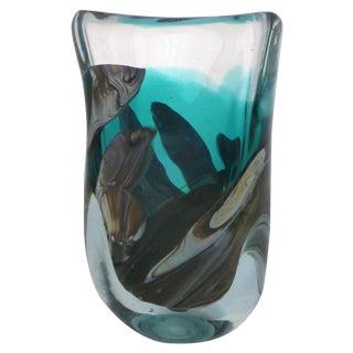 Signed Mid Century Art Glass Vase