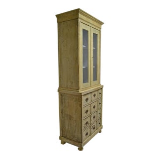 Pine 12-Drawer Apothecary Cupboard