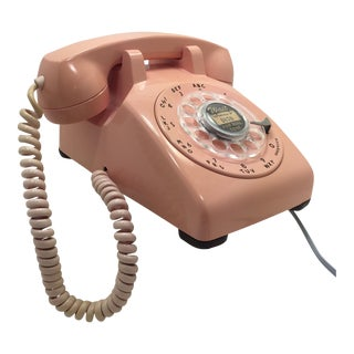 Vintage Pink 1961 Rotary Dial Desk Phone