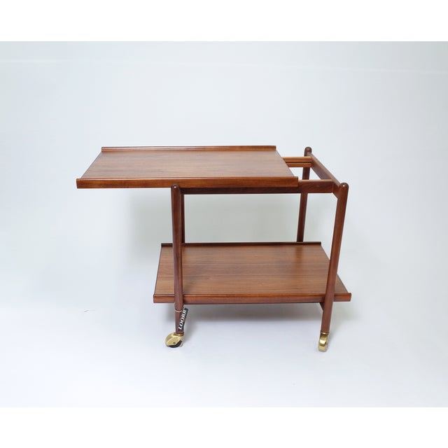 Poul Hundevad Danish Modern Teak Bar Cart - Image 3 of 6