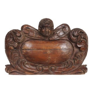 18th Century Cartouche Form Bracket with a Putto Head