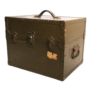 Vintage Industrial Green Military Hard Case
