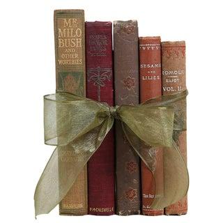 "Antique Book Gift Set: Pocket-Sized Floral ""Bouquet"", S/5"