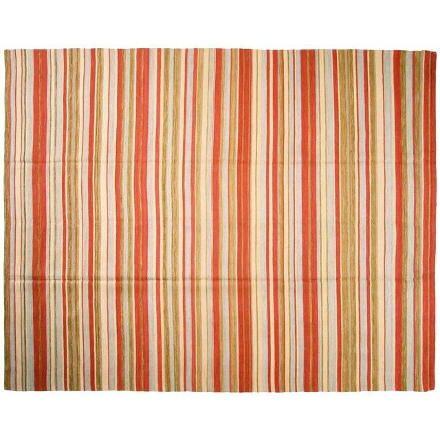 "Striped Egyptian Kilim Rug, 8'3"" x 10'7"" - Image 1 of 3"