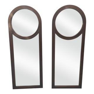 Mid-Century Modern Walnut Mirrors - A Pair