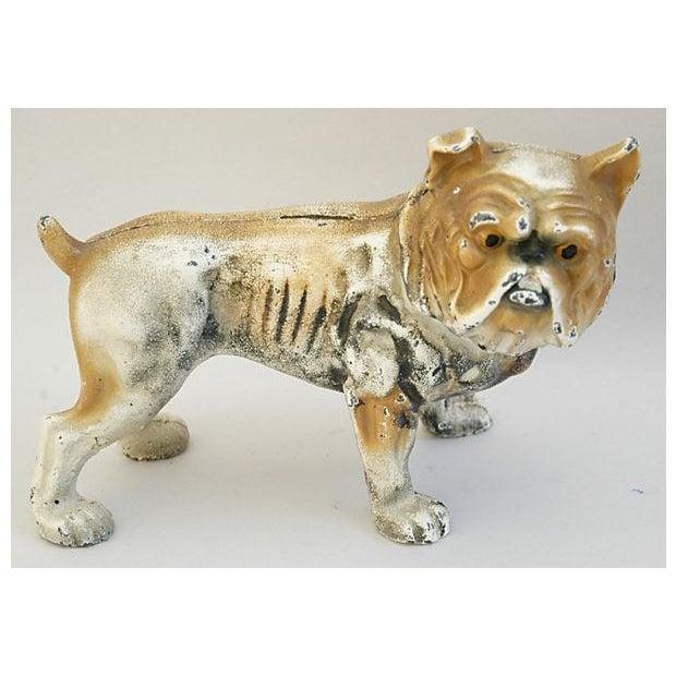 Cast Iron Bull Dog Bank/Door Stop - Image 4 of 8