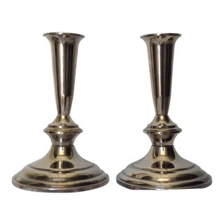 Silver Plate Gorham Candle Holders - a Pair