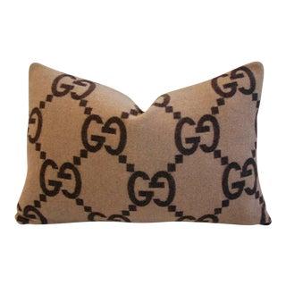 Gucci Cashmere & Velvet Down Feather Pillow
