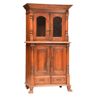 Teak Carved Colonial Cabinet