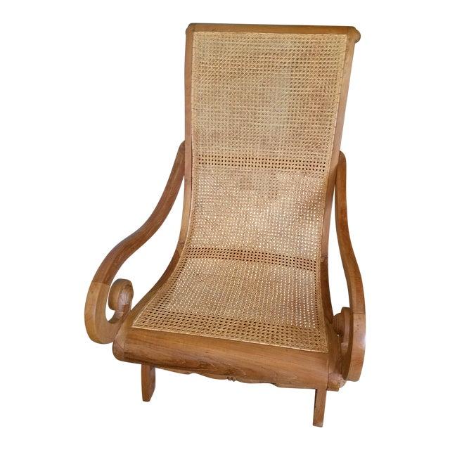 Antique Rattan Plantation Chair - Image 1 of 6 - Antique Rattan Plantation Chair Chairish