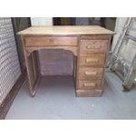 Image of Antique Bleach Oak Desk