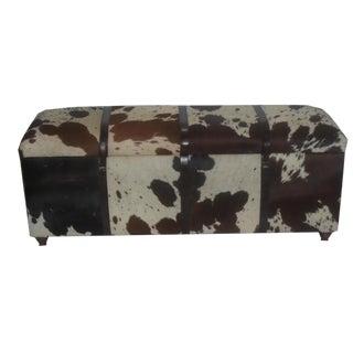 Black & White Hair on Hide Rectangular Storage Bench