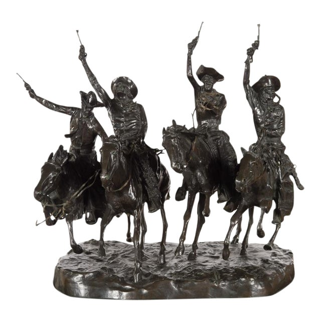 """F. Remington """"Coming Through the Rye"""" Bronze Sculpture - Image 1 of 11"""