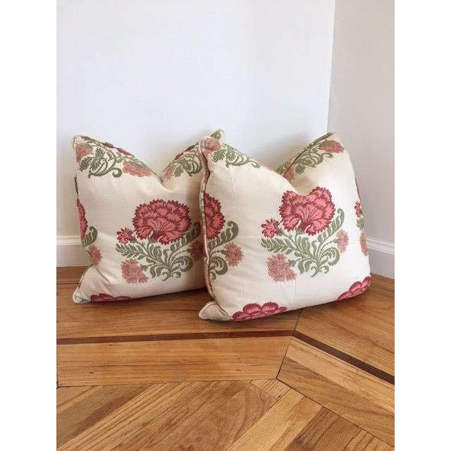 Embroidered Decorative Throw Pillows - A Pair - Image 2 of 4