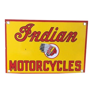Steel Indian Motorycle Sign