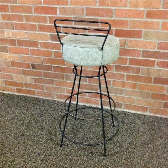 Mid-Century Modern Wrought Iron Stool - Image 5 of 10