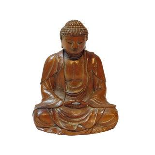 Detail Handcrafted Boxwood Meditation Gautama Shakyamuni Buddha Statue