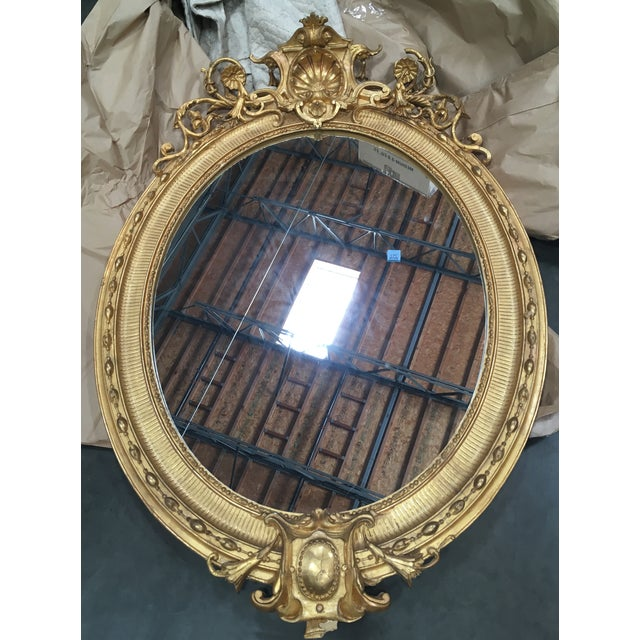 Carved Italian 22K Gold Giltwood Mirror - Image 2 of 5